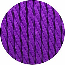 Twisted Silk Braided Vintage Fabric Purple