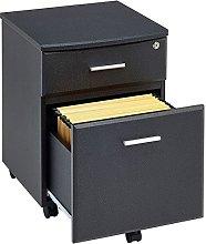 Two Drawer Lockable A4 Suspension Filing Pedestal