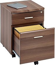 Two Drawer Lockable A4 Suspension Filing Pedestal