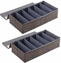 Two Foldable Shoe Boxes, Washable Storage Boxes