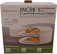 Two Level Microwave Insert Food Cooker Steamer