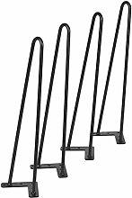 Two-Rod Heavy Duty Hairpin Table Legs Set of 4,
