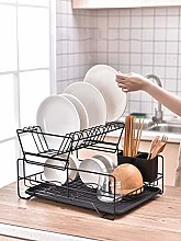 Two Tier Drainer Dish Draining Rack,Sink Drying