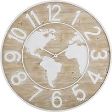 Two-tone engraved clock D95cm