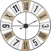 Two-Tone Openwork Metal Clock D120