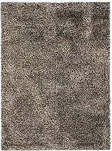 Two-tone Shaggy Rug, 120 cm x 170 cm, Brown/White