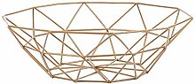 TwoCC Geometric Fruit Vegetable Wire Basket Metal