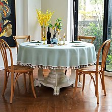 TWTIQ European Large Round Tablecloth Waterproof