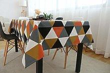 TWYYDP Rectangular Tablecloths Black White Orange