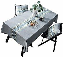 TWYYDP Tablecloth Rectangle Gray