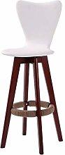TXXM Bar Stool Solid Wood Bar Chair Creative High