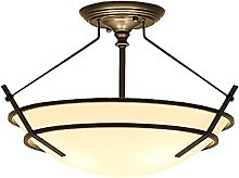 TY&GH American Country Iron Ceiling Lamp European