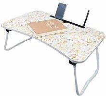 TYJIAJU Foldable Desk Laptop Table Bed Small Desk