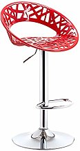 TYJIAJU Home Chair Bar Stool Abs Seat Metal Frame