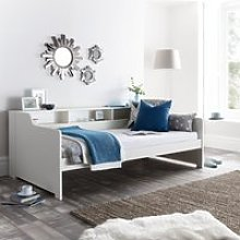 Tyler White Wooden Day Bed Frame Only - 3ft Single