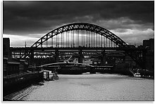 Tyne Bridge Canvas Newcastle Black White Landscape