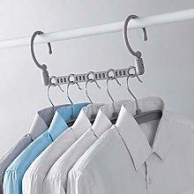 TYOLOMZ 5Pcs/Set Storage Rack Plus 5 Hangers