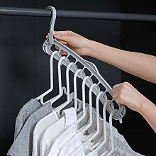 TYOLOMZ 9Hole Clothes Hanger Holder Wardrobe