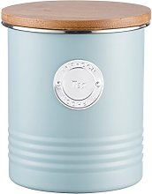 Typhoon 1 Litre Living Tea Canister, Steel, Blue,