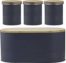 Typhoon Essentials 4-Piece Jar Set, Blue, Set of 4