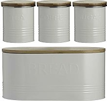 Typhoon Essentials 4-Piece Jar Set Cream, Set of 4