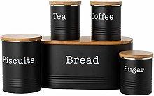 Typhoon Essentials Bread Bins, Tea, Coffee, Sugar
