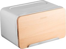 Typhoon Hudson White Bread Box, Metal, 36x22x21 cm