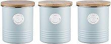 Typhoon Living Blue Steel Set of Tea Coffee Sugar