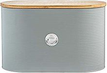 Typhoon Living Bread Bin with Bamboo Lid, Grey,
