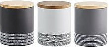 Typhoon Monochrome Set Of 3 Storage Canisters