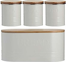 Typhoon Rippled Metal Tea Coffee Sugar Canister