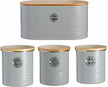 Typhoon Tea Coffee Sugar Bread Bin Canister Bamboo