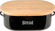 Typhoon Vintage Bread Bin, Black