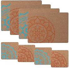 Typhoon World Foods 8-Piece Cork Coaster And