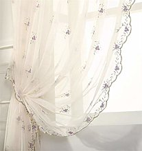 TYPING Living Room Curtain Tulle Embroidery