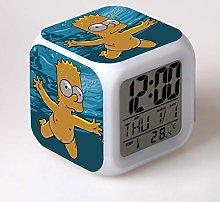 TYWFIOAV Digital alarm clock with 7-color luminous