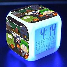 TYWFIOAV Digital alarm clock with 7 colors LED