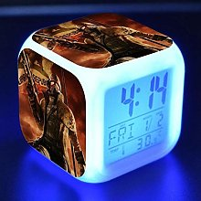 TYWFIOAV Digital clock with 7 colors, changeable