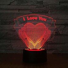TYWFIOAV LED desk lamp touch 3D 7 colors I love
