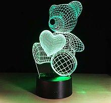 TYWFIOAV Love 3D LED Light Touch Gift Visual Light