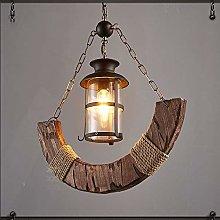 TYXL chandelier Country Hemp Rope Wood Chandelier