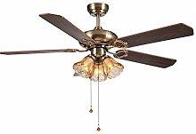 TYXL chandelier Fan Light Ceiling Fan Light Style