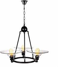 TYXL chandelier Industrial Retro Glass Chandelier,