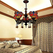 TYXL chandelier Pastoral Stained Glass Living Room