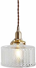 TYXL chandelier Retro Nostalgic Brass Glass