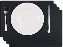 U'Artlines Dining Placemats Faux Leather Heat