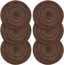 U'Artlines Place Mat, Round-shapped Crossweave