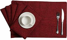 U'Artlines Placemats Set of 6 Heat Resistant