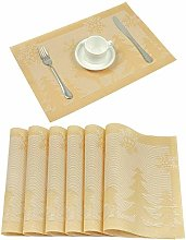 U'Artlines Placemats Sets of 6 Christmas