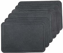 U'Artlines Placemats Sets of 6 Faux Leather PU